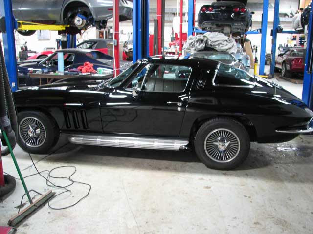 Black 1965 Corvette Coupe